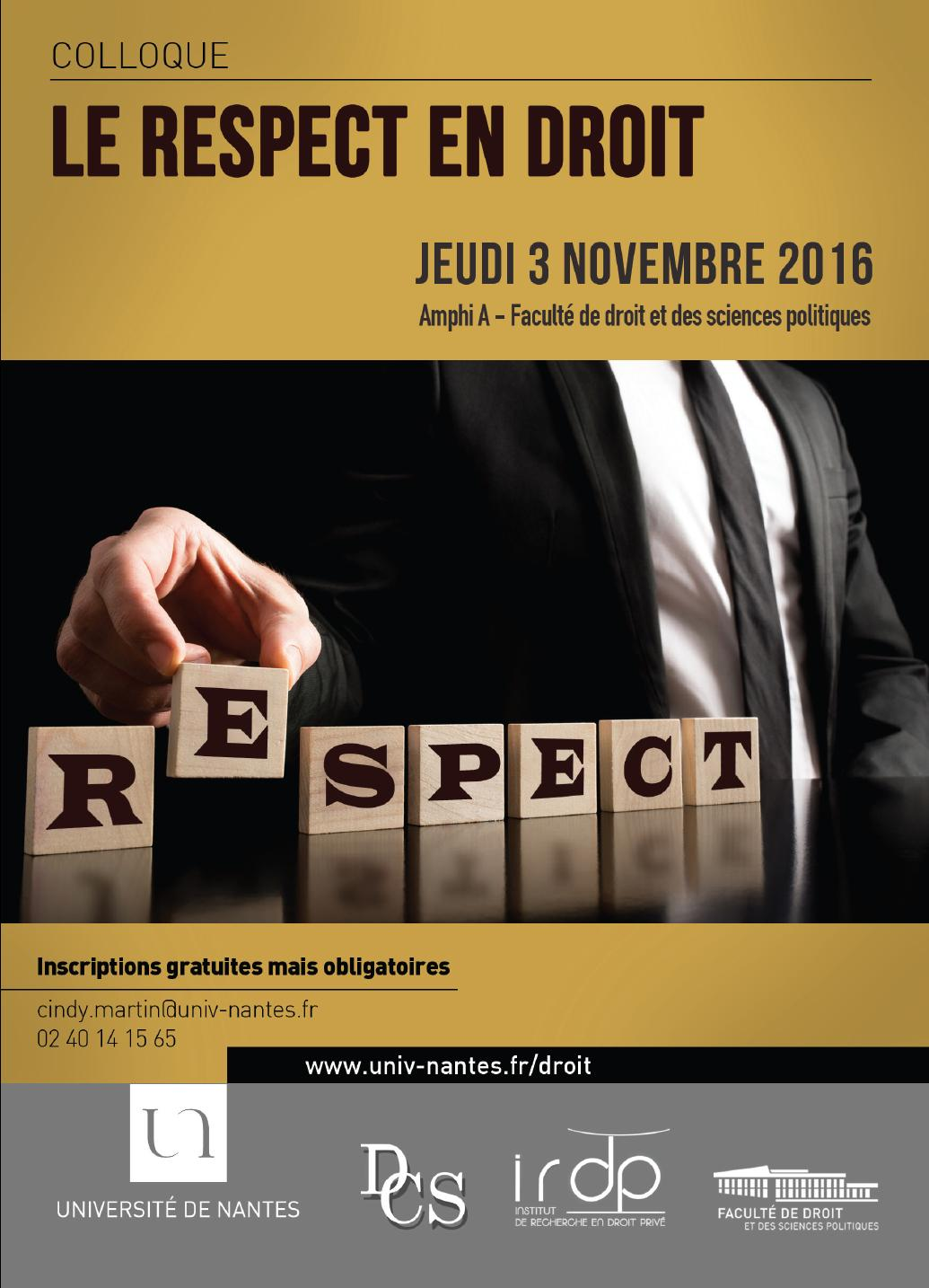 Colloque - Le respect en Droit