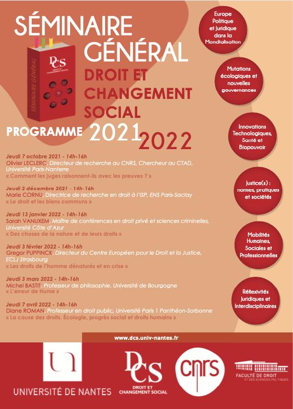 Séminaire Général DCS 2021-2022